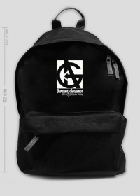 Plecak GUMOWA AKADEMIA duży, czarny