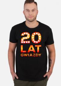 Koszulka Męska 20 Lat Gwiazdy