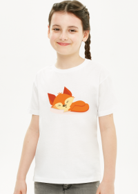 Koszulka dziewczęca śpiący lisek!