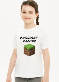 Koszulka dziewczęca minecraft master