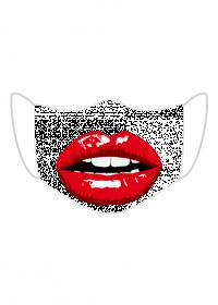 Maseczka kolorowa - usta, zęby, szminka