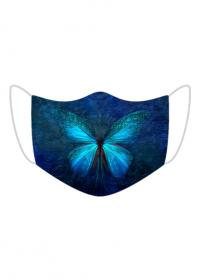 Maseczka kolorowa z motylem - motyl ładny wzór