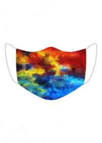 Maseczka kolorowa - farby - kolory - plamy