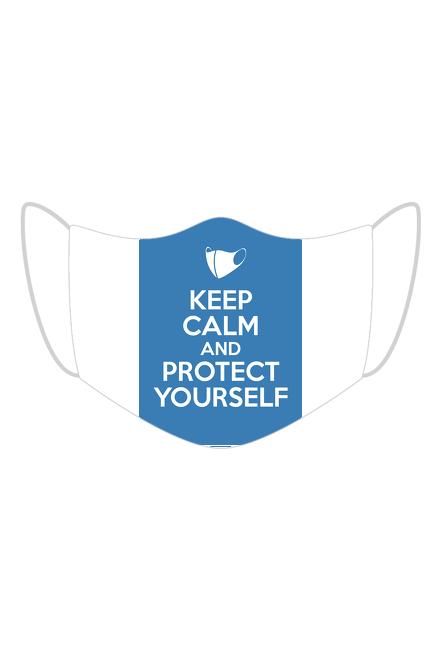 Maseczka kolorowa keep calm and protect