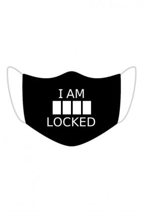 I am locked - Sherlock maska z nadrukiem