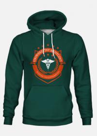 UMED- pielęgniarstwo - bluza z kapturem zielona