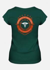 UMED- pielęgniarstwo - koszulka damska zielona