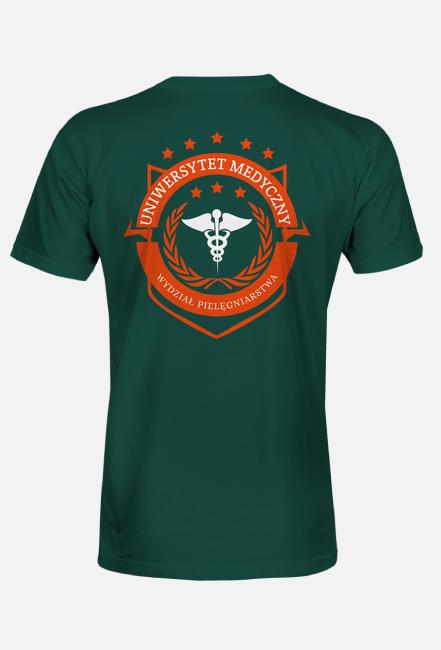 UMED- pielęgniarstwo - koszulka męska zielona
