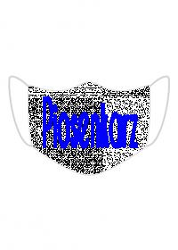Maseczka z napisem Piosenkarz kolor niebieski