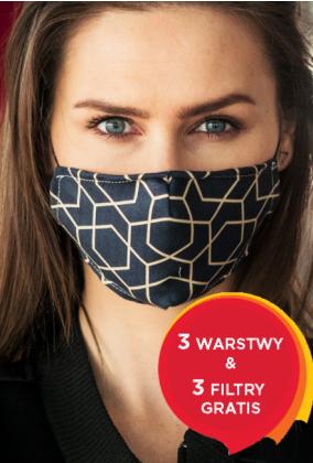 TRÓJWARSTWOWA Z FILTREM + 3 FILTRY Damska Czarna