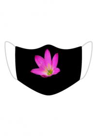 Maseczka Kolorowa kwiat i czerń