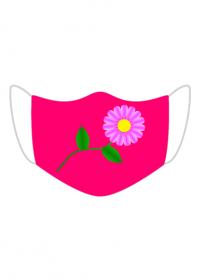 Maseczka Kolorowa Różowy i Stokrotka
