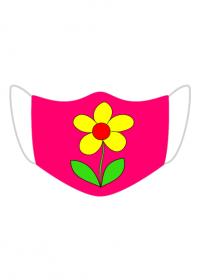 Maseczka Kolorowa Róż żółty kwiat