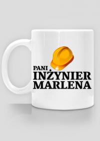Kubek Pani inżynier z imieniem Marlena 2-stronny