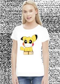 Pikachu w maseczce koszulka damska