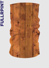 Komin z nadrukiem - drewno