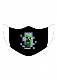 Maseczka creeper minecraft koronawirus
