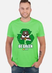 Recykling be green ziemia. Pada