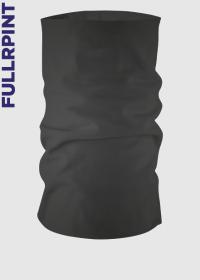 Komin czarny z nadrukiem full print - czarno-szary komin wielofunkcyjny