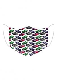 Maseczka wielorazowa samochody