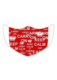 Maseczka wielorazowa Keep calm and carry on