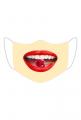 Maseczka wielorazowa usta z wisienką