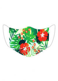Maska Tropikalne kwiaty