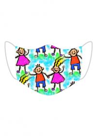 Kolorowa maseczka ochronna wielokrotnego uzytku Dzieci