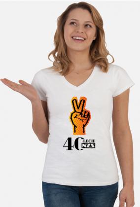 Koszulka damska 40-lecie NZS - biała
