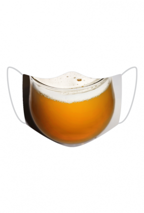 maska pełna piwa