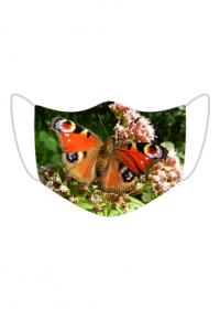 Kolorowa maseczka ochronna wielokrotnego uzytku Motyl 3