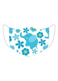 maseczka maska dzieci dziecięca zwierżeta kwiatki słoń dziecko