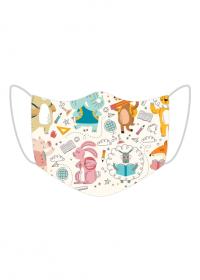 maseczka maska dzieci dziecięca zwierżeta kwiatki słoń dziecko 2