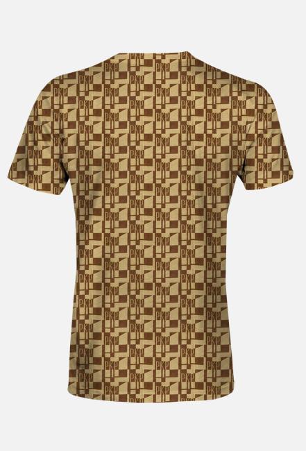 Koszulka męska deseń kolejowa