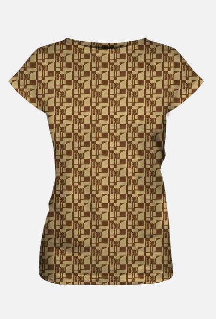 Koszulka damska deseń kolejowa