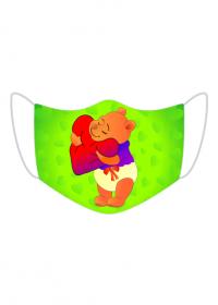 Kolorowa maseczka ochronna wielokrotnego uzytku Kubus Puchatek