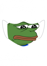 Pepe Smutna Żaba maseczka