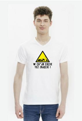 W chuja cięcie też zajęcie (koszulka męska v-neck) cg