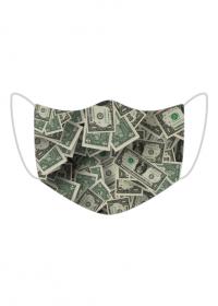 Kolorowa maseczka ochronna wielokrotnego uzytku Dolary