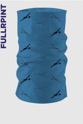Komin dla lotnika, sylwetki szybowców na błękitnym tle