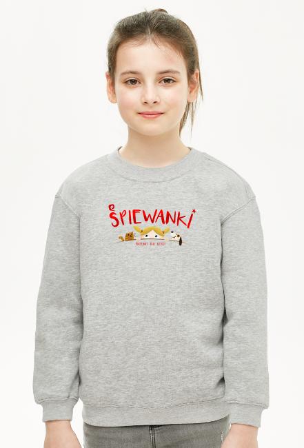 Śpiewanki logo - bluza dla dziewczynki - śpiewanki.tv