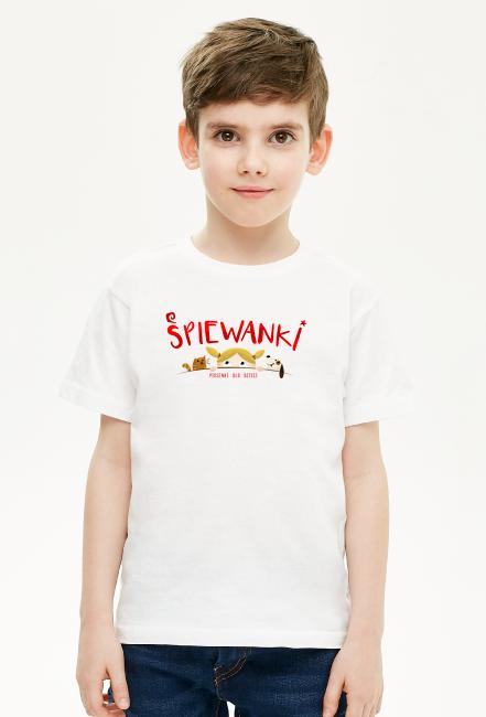 Śpiewanki logo - koszulka dla chłopca - śpiewanki.tv