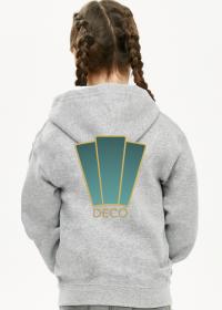 Bluza z kapturem dziewczęca rozpinana Deco 1 plus
