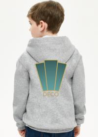 Bluza z kapturem chłopięca rozpinana Deco 1 plus