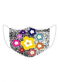 Maseczka Ochronna krąg kwiat