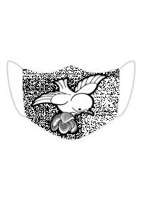 Maseczka Ochronna Ptak z kwiatem