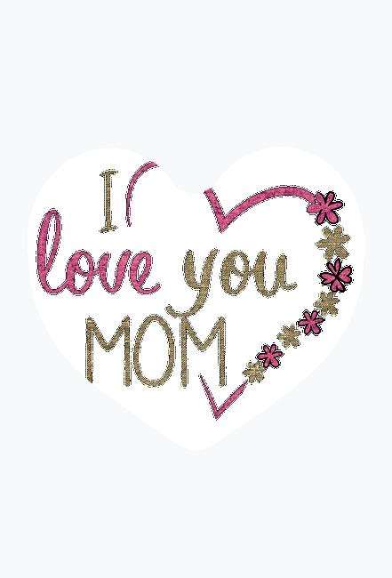 Magnes na lodówkę dla mamy - I love you mom