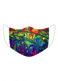 maseczka kolorowa z wzorem farby kolorowe