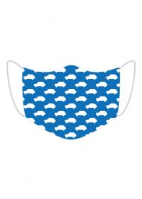 Maseczka Maluszki niebieska