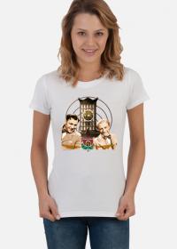 "Koszulka damska ""Wesoła Lwowska Fala"" biała"